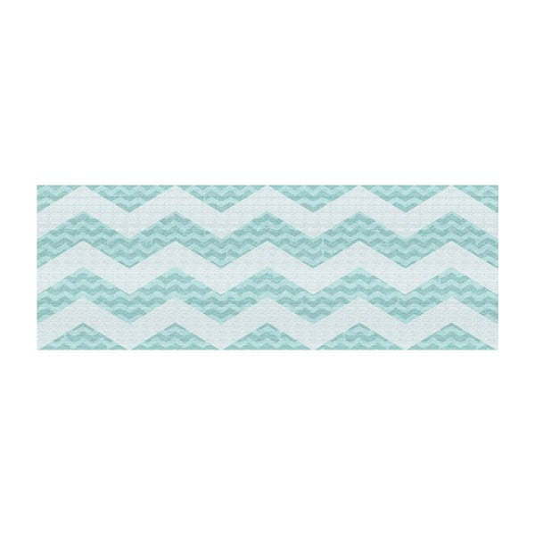 Vinylový koberec Chevronmania Aqua, 50x100 cm