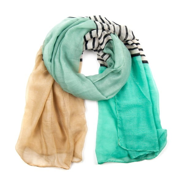 Šátek Colour Beige/Turquoise