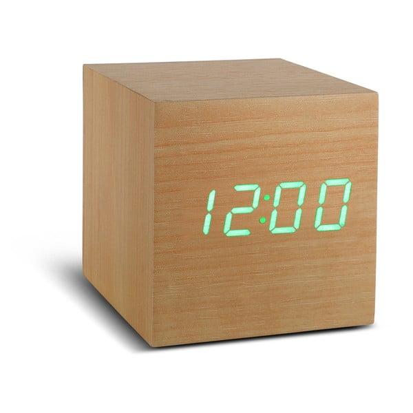 Cube Click Clock bézs ébresztőóra zöld LED kijelzővel - Gingko