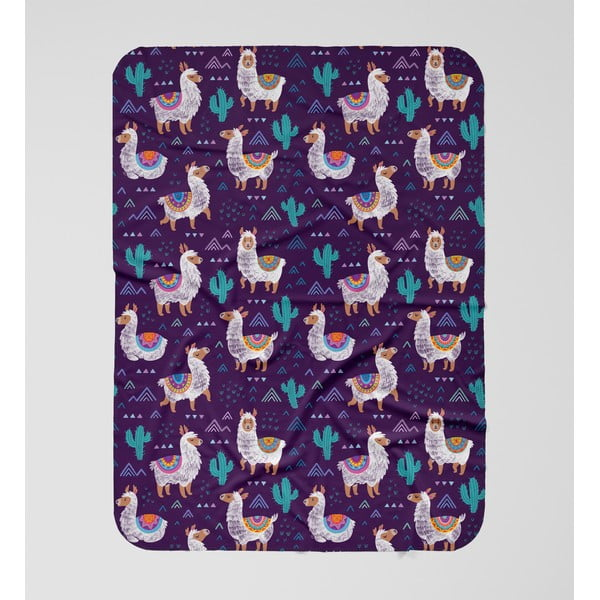 Dětská deka OYO Kids Llama Adventures, 120 x 160 cm