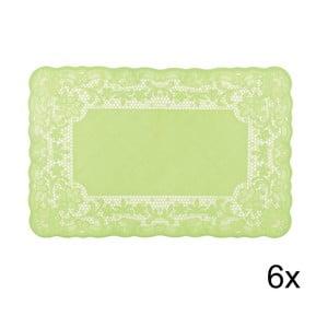 Set prostírání Marletto Verde, 6 ks