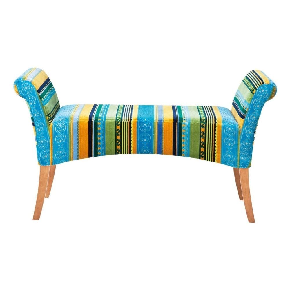 Modrozelená polstrovaná lavice Kare Design Very Irish