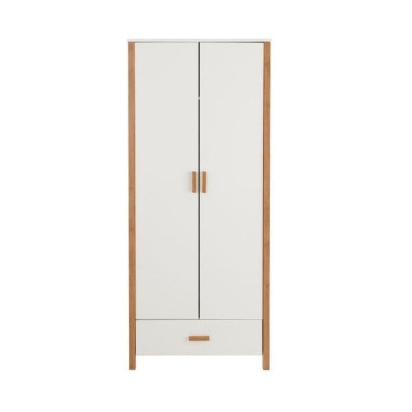 Bílá dvoudveřová dřevěná šatní skříň Støraa Caitlin