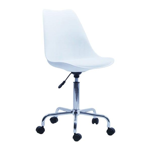 Białe krzesło biurowe House Nordic Stavanger