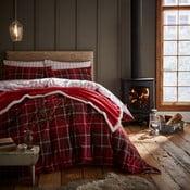 Lenjerie de pat Catherine Lansfield Tartan Check, 135 x 200 cm, roșu