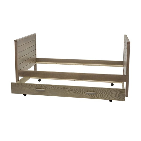 Tmavá postel Woodman Woody, 90x200cm