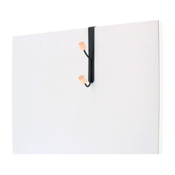 Metalowy wieszak na drzwi z 2 haczykami Compactor