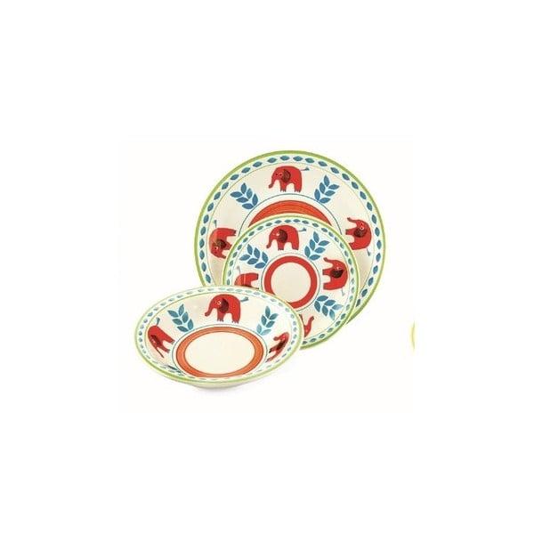 Hluboký talíř Arca modročervený, 21 cm