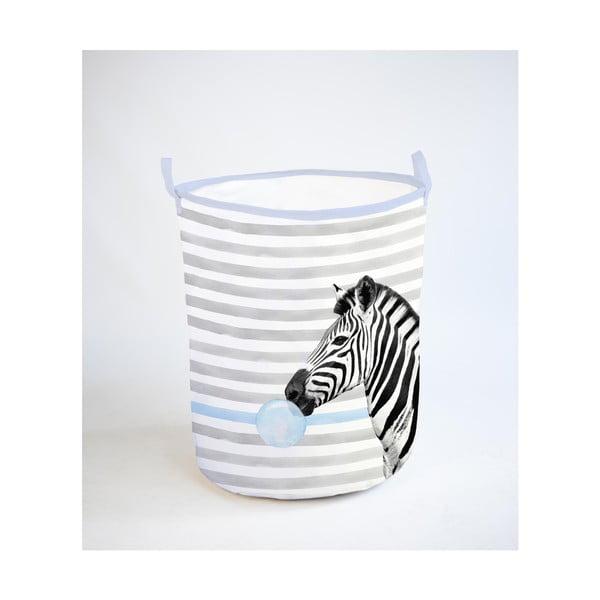 Skládací úložný koš Little Nice Things Zebra