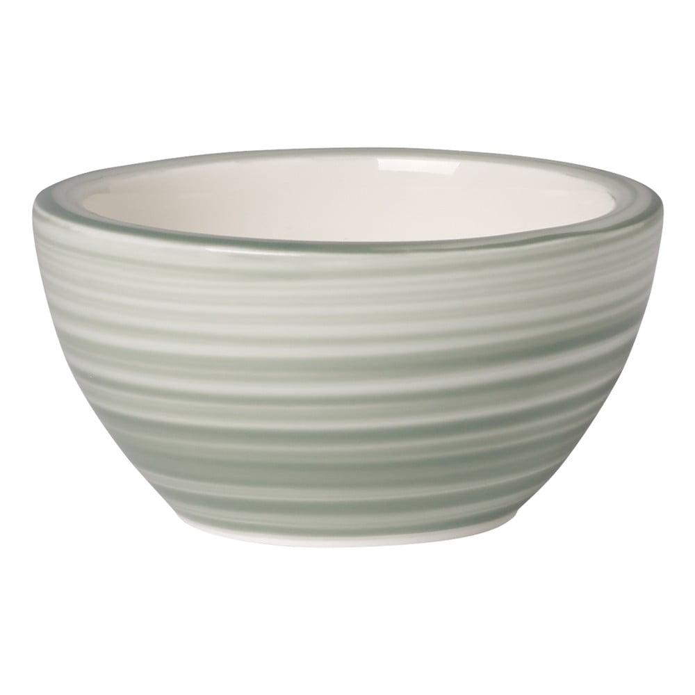 Zeleno-bílá porcelánová miska na dip Villeroy & Boch Artesano Nature, 8 cm