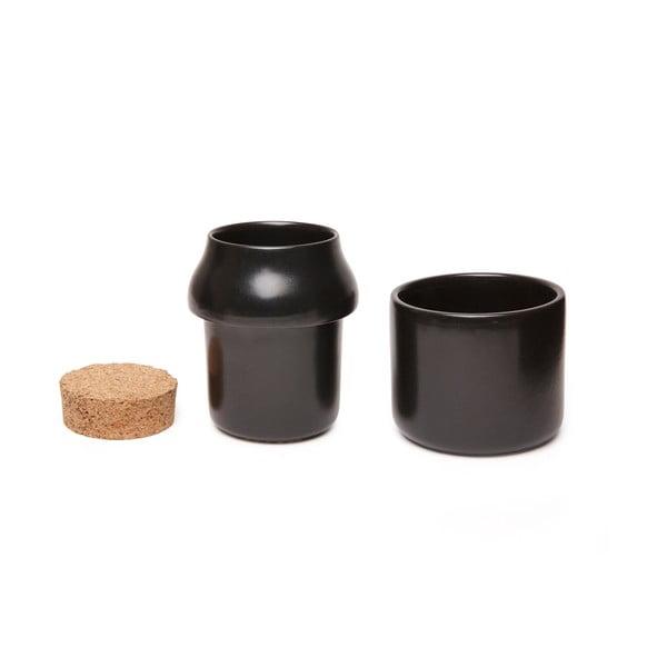 Czarny ceramiczny moździerz Kikkerland Herb