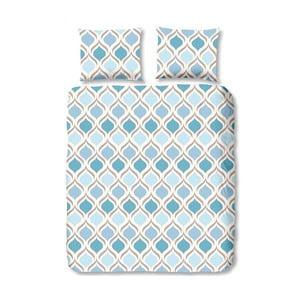 Modré povlečení na jednolůžko Muller Textiels Swing, 140 x 200 cm