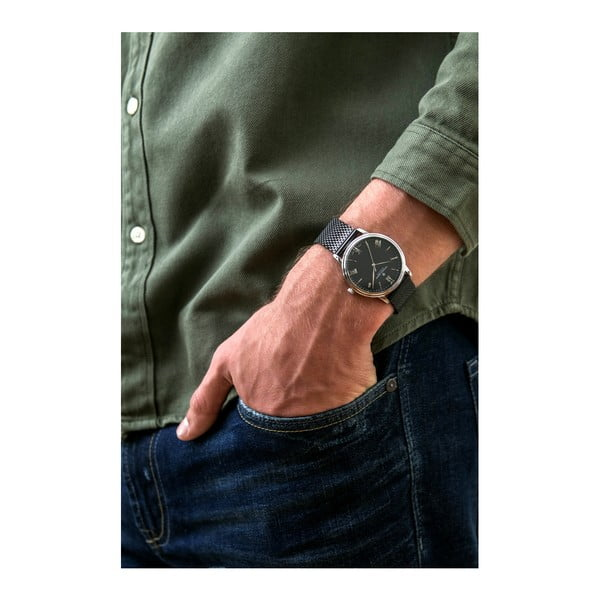 Pánské hodinky s páskem v černé barvě z nerezové oceli Frederic Graff Dareo