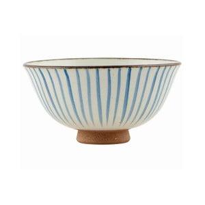 Ručně malovaní mísa Stripes Blue, 12x6 cm