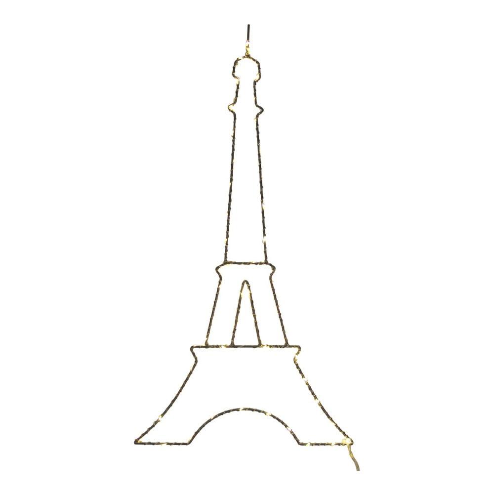 Bílá nástěnná světelná LED dekorace Opjet Paris Paris, délka50cm