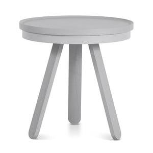 Šedý odkládací stolek s podnosem Woodendot Batea S