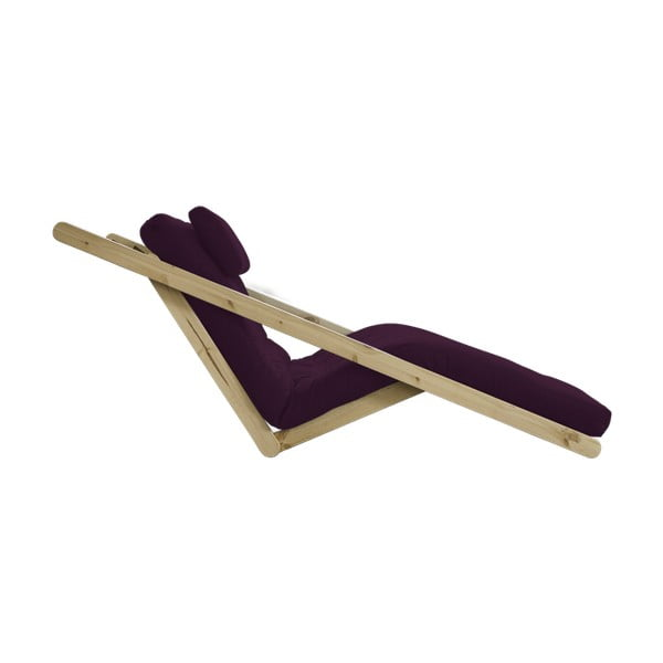 Dvoumístná variabilní lenoška Karup Figo Raw/Purple Plum