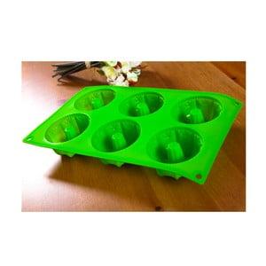 Forma na bábovičky, 6 ks, zelená