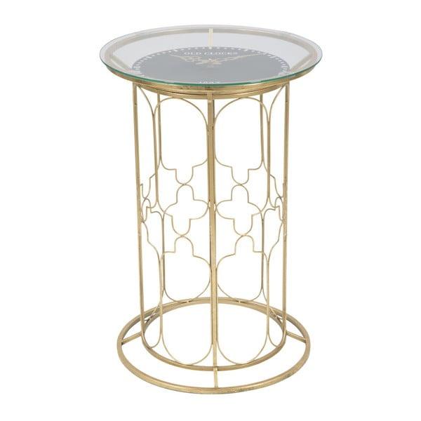 Balcony Time kisasztal asztali órával és aranyszínű szerkezettel - Mauro Ferretti