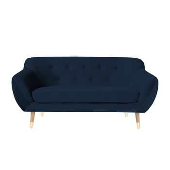 Canapea cu 2 locuri Mazzini Sofas Amelie albastru închis