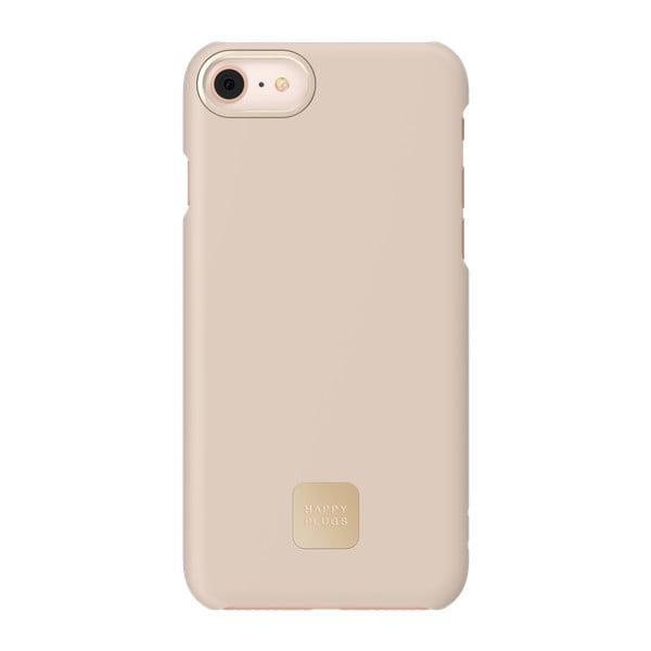 Husă protecție telefon pentru iPhone 7 și 8 Happy Plugs Slim, bej