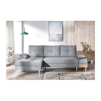 Canapea cu șezlong pe partea stângă Bobochic SVEN, gri