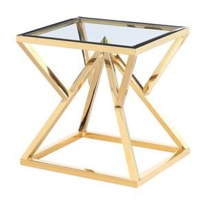 Odkládací stolek ve zlaté barvě Artelore Norma