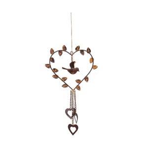 Závěsná dekorace Antic Line Heart Bird