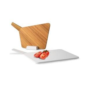 Prkénka se stojánkem Chopping Board Set, bílá