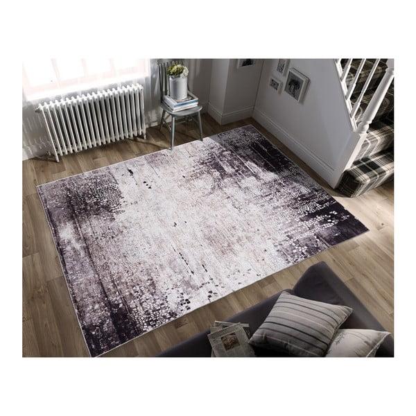 Covor cu rezistență la pete Floorita Klimt Grey, 80 x 150 cm