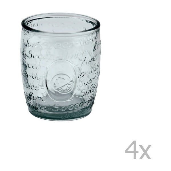 Sada 4 sklenic z recyklovaného skla Ego Dekor Mediterraneo, 400 ml