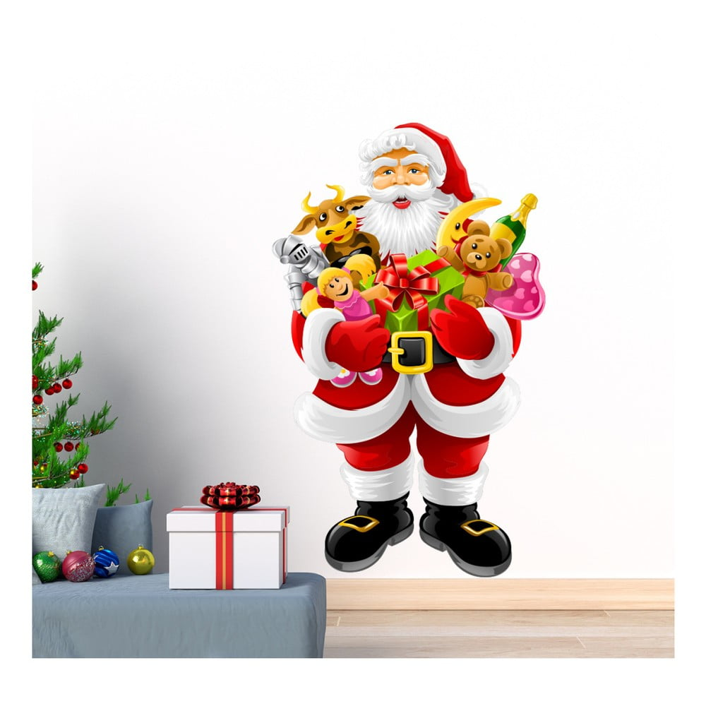 Vánoční samolepka Ambiance Santa Claus and Gifts