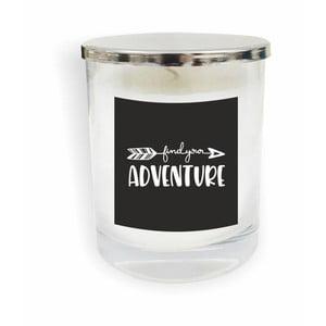 Bílá svíčka North Carolina Scandinavian Home Decors Motto Glass Candle V4