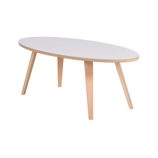 Bílý oválný konferenční stolek Garageeight Arvika