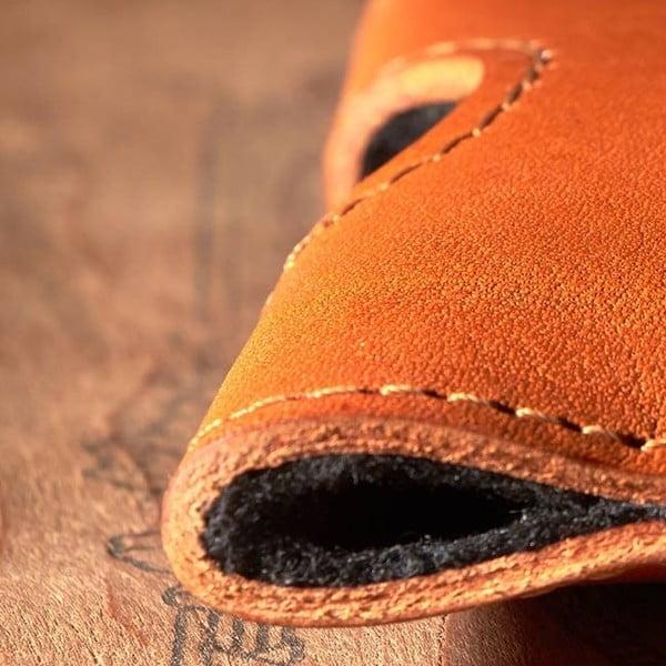 Kožený obal na Samsung Galaxy S4 Cognac