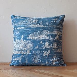 Polštář s výplní Dark Blue Forest, 50x50 cm