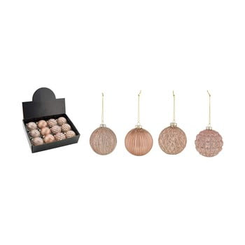 Set 12 decorațiuni pentru bradul de Crăciun Ego Dekor Metalic imagine