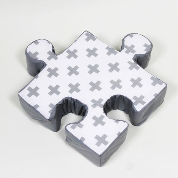 Pernă Puzzle Cross, gri
