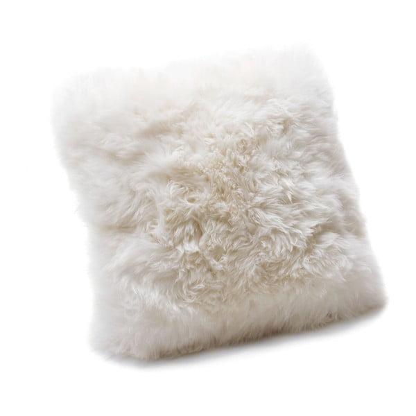 Pernă din blană de oaie Royal Dream Sheepskin, 30 x 30 cm, alb