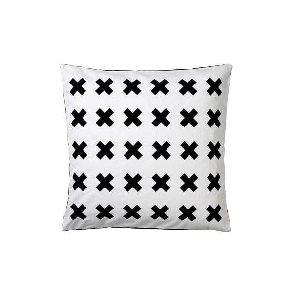 Polštář Stitches Black/White, 50x50 cm