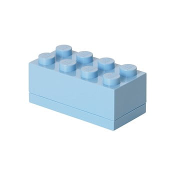Cutie depozitare LEGO® Mini Box II, albastru deschis imagine