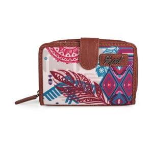 Růžovo-modrá peněženka SKPA-T, 14 x 9 cm