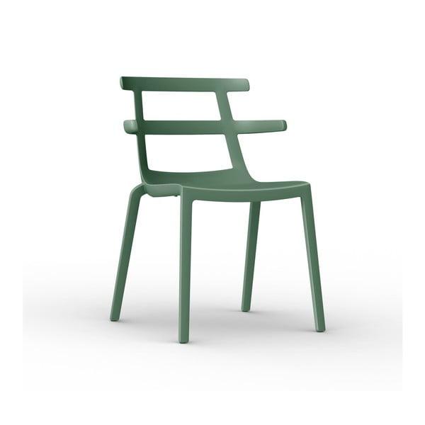 Sada 2 zelených zahradních židlí Resol Tokyo