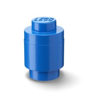 Cutie depozitare rotundă LEGO®, albastru, ⌀ 12,5 cm imagine