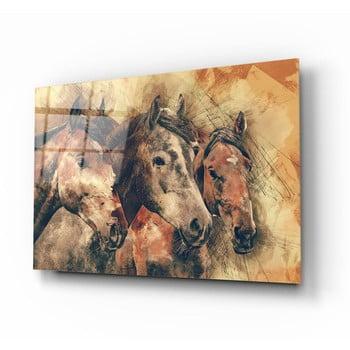 Tablou din sticlă Insigne Horses poza