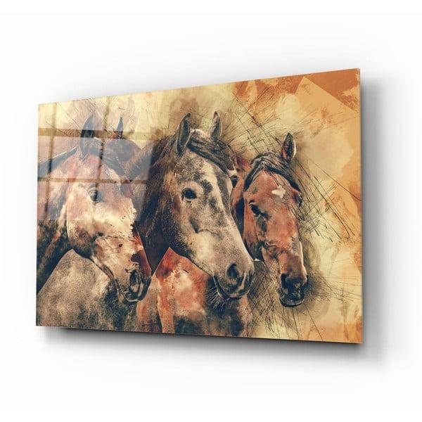 Horses üvegezett kép - Insigne