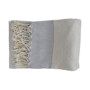 Světle modrá ručně tkaná osuška z prémiové bavlny Homemania Nefes Hammam,100x180 cm