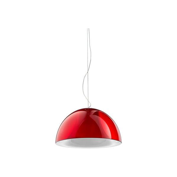Závěsné svítidlo Pedrali L002S/BA, červené transparentní