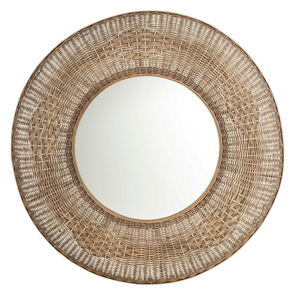 Zrcadlo s ratanovým rámem Tropicho, ⌀100cm