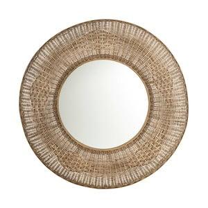 Oglindă cu ramă din ratan Tropicho, ⌀ 100 cm